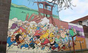 Fresques murales du parcours BD de Bruxelles
